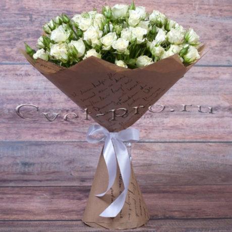 Букет Летний ветер, купить цветы Тольятти, доставка цветов в Тольятти, букет из кустовых роз, Cvet-pro