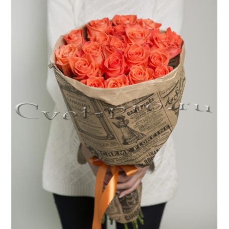 Букет розовых роз, купить цветы Тольятти, доставка цветов в Тольятти, букет из розовых роз, Cvet-pro
