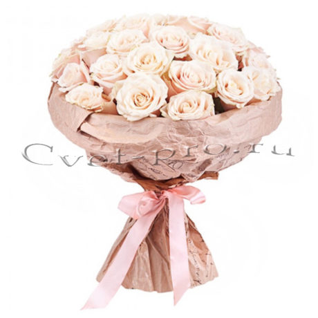 Букет Крем, доставка цветов в Тольятти, купить цветы Тольятти, букет кремовых роз, Cvet-pro