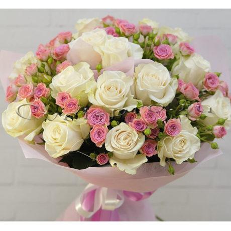 Букет Нежное утро, купить цветы Тольятти, доставка цветов в Тольятти, белая роза, Cvet-pro