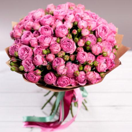 Букет Самой прекрасной, купить цветы Тольятти, доставка цветов в Тольятти. розовая пионовидная роза, Cvet-pro