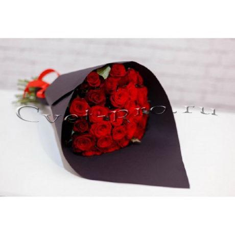 Букет Black Heart, купить цветы Тольятти, доставка цветов в Тольятти, бордовая роза, Cvet-pro