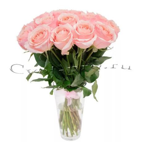 17 розовых роз, купить цветы Тольятти, доставка цветов в Тольятти, розовая роза, Cvet-pro