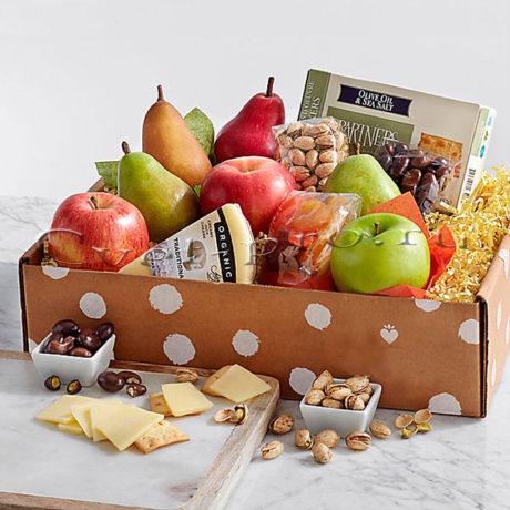 Корзина фруктов Свежие фрукты, сыр и закуски, купить цветы Тольятти, доставка цветов Тольятти