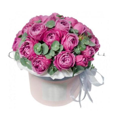 Цветы в коробке Эверест, купить цветы Тольятти