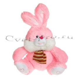 Мягкая игрушка Заяц с шарфиком, купить цветы Тольятти