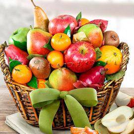 Корзина фруктов Для гурманов, купить цветы Тольятти, доставка цветов Тольятти