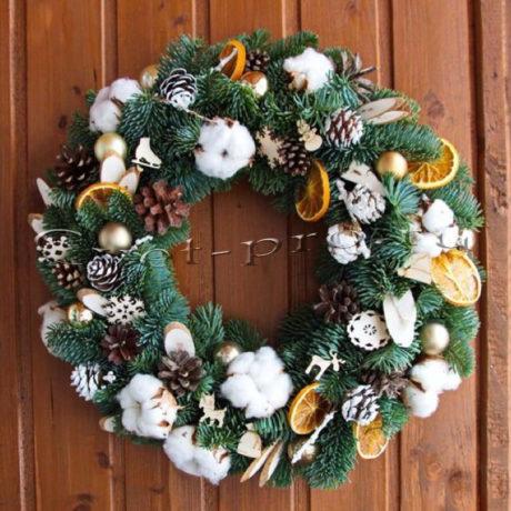 Композиция Счастливого Нового года, купить цветы Тольятти, доставка цветов Тольятти