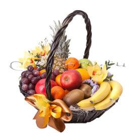 Корзина фруктов Нежность фруктов, купить цветы Тольятти, доставка цветов Тольятти