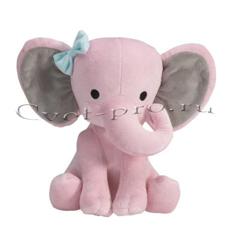 Мягкая игрушка Розовый слон, купить цветы Тольятти