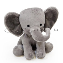 Мягкая игрушка Серый слон, купить цветы Тольятти