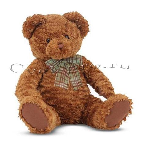 Мягкая игрушка Бурый медведь, купить цветы Тольятти