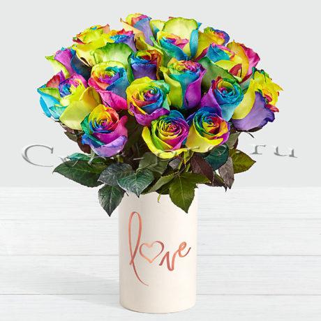 Букет Радужный, купить цветы Тольятти