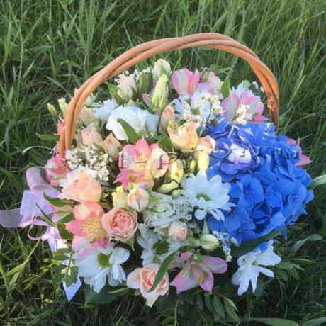 Корзина Летние цветы • Купить цветы Тольятти