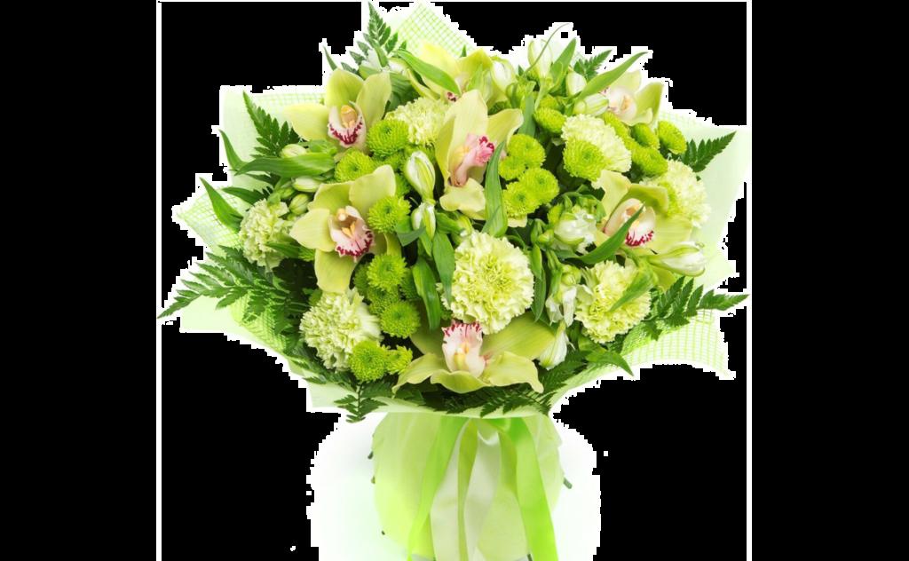 цветы стиль, зеленый