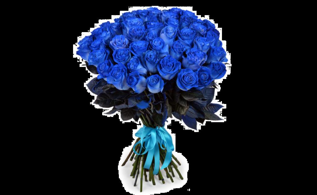 цветы стиль, синий